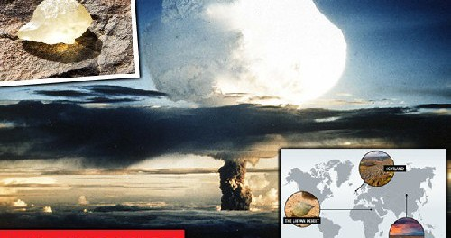 Карта свидетельств Атомных Войн, которые велись в глубокой древности