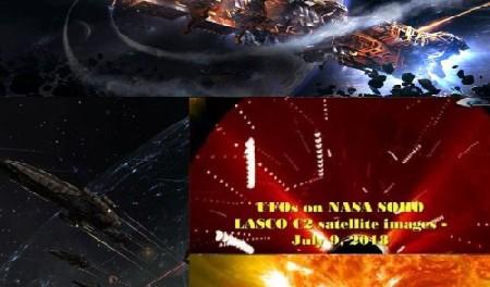 Космическая война произошла возле солнца 9 июля