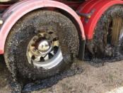 австралия расплавнные шины на грузовиках