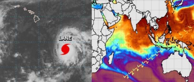 На Гавайи Килауэа снова надвигается гигантский ураган