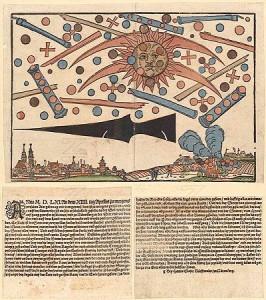 Битва НЛО над немецким городом Нюрнбергом 14 апреля 1561