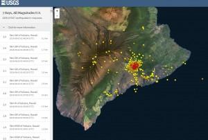 Землетрясения по острову