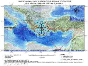Мальтийский крест вписан в круг диаметром порядка 540 километров Средиземное море
