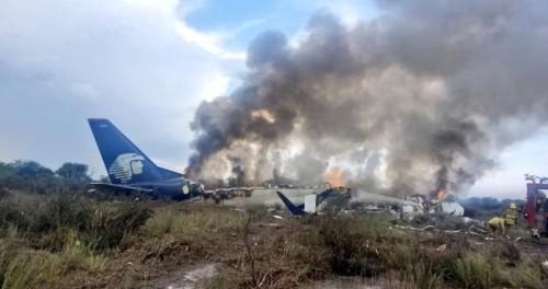 В Мексике рухнул авиалайнер