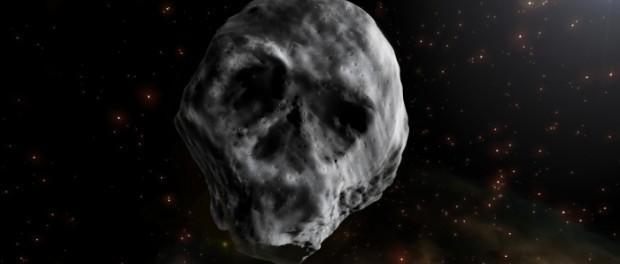 Космический череп-астероид приближается к Земле