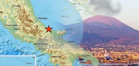 Землетрясение в Италии перед взрывом вулкана Везувия