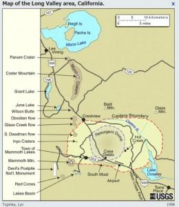 кальдерообразующего сверхмассивного извержения 760 000 лет