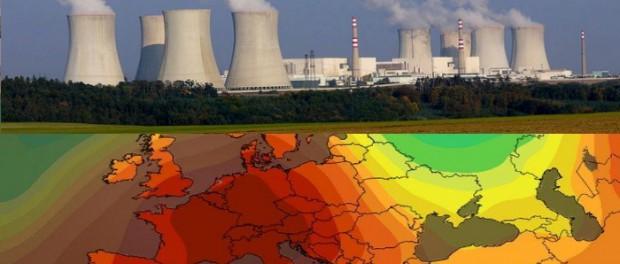 Жара вызвала остановку десятки АЭС в Европе
