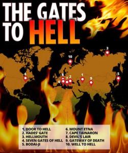 10 мест врата ада