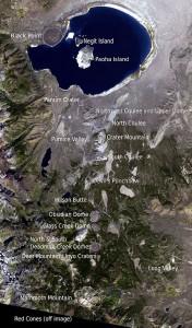 вулканической цепи Mono–Inyo Craters