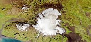 Вулкан Катла ледяная шапка
