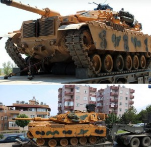 Перемещение военной техники возле Идлиба