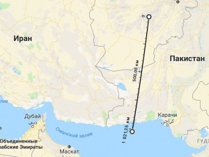взлет F-35 недалеко от Пакистана