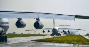 караван самолетов в Сирии