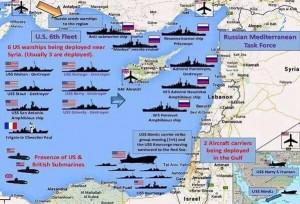 карта расположение кораблей в Сирии в Средиземной море