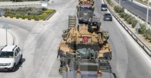 концентрация турецкой бронетехники на границе с Идлибом