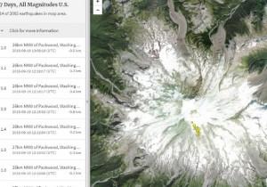 огромный стратовулкан Рейнир в штате Вашингтон
