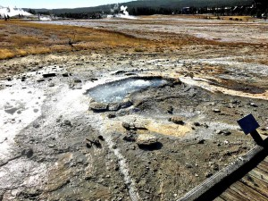 Ear Spring после извержения 15 сентября