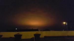 Вспышка от взрыва Нибиру