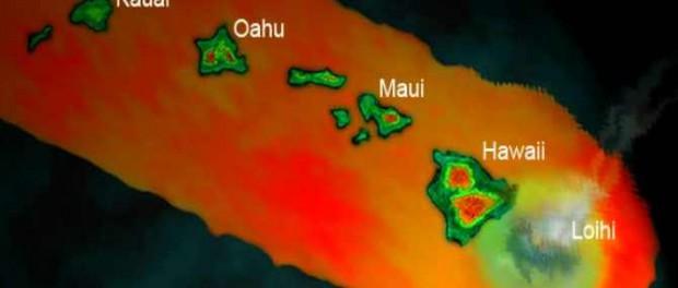 Гавайи и Гавайский хребет уходят под воду