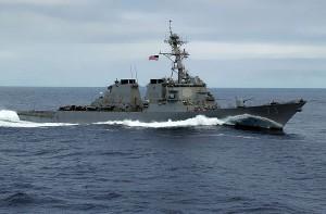 Китайские и американские эсминцы в Южно-Китайском столкновение