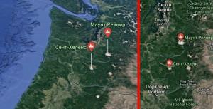 гора Рейнир карта