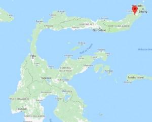 извержение вулкана сопутан карта