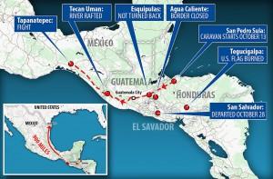 караван мигрантов мексиканский забор