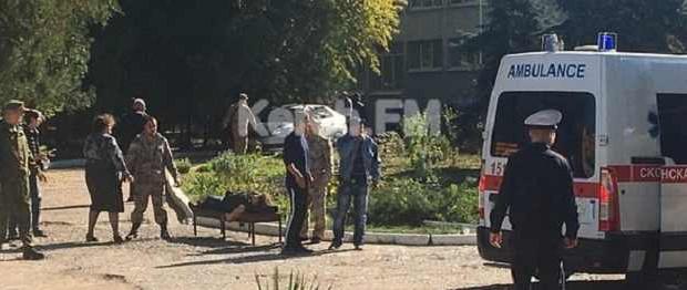 Видео очевидцев массового расстрела в керченском колледже