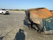 объект на пляже Северной Каролины