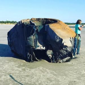 объект на пляже северной каролине