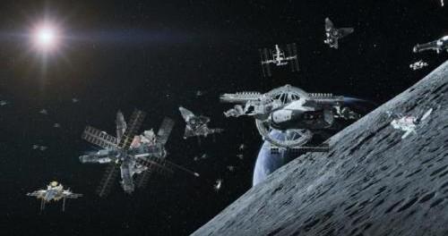 Флот Нибиру высадился на Луне