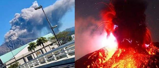 Вулкан Сакурадзима в кальдере Айра проснулся, следующий Йеллоустоун