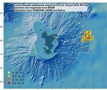 Майотта рой землетрясений