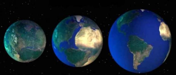 Теория о том, что планета Земля постоянно растет