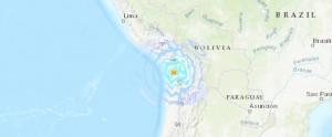 Чили землетрясение карта