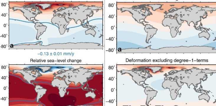 карта затопление океаном континетов Земли