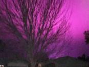 фиолетовое небо над Вашингтоном