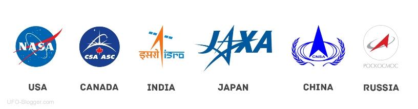 эмблемах космических агентств всего мира