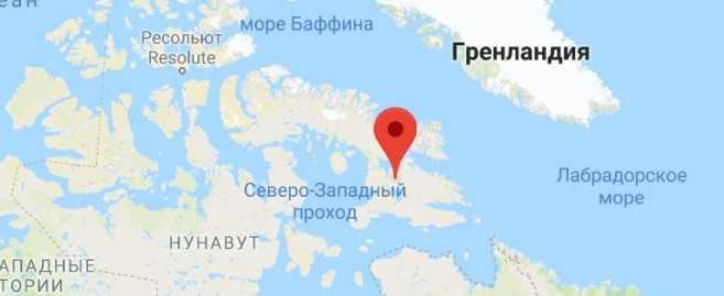 Баффинова Земля карта