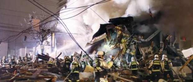 В Японии теракт: взорвался ресторан и разворочена улица