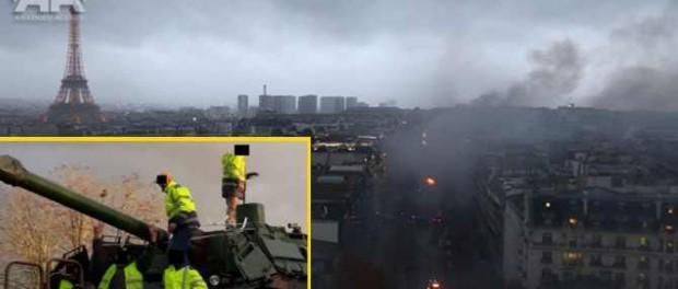 Гражданская война во Франции: протестующие захватили танки