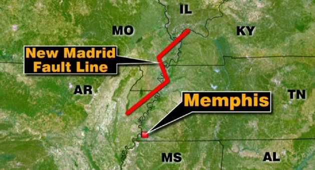 штат Теннесси землетрясение