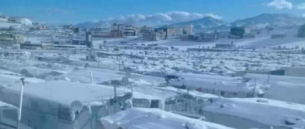 США атаковали Сирию снежной бурей и морозом