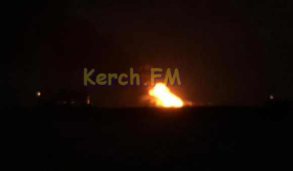 пожар судов в Керченском проливе