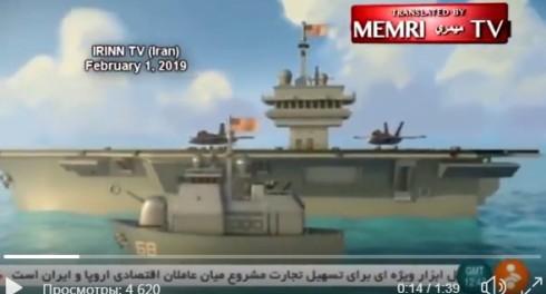 Иран в мультике показал как будет топить американский авианосец