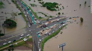 Проливные дожди в Австралии затопление