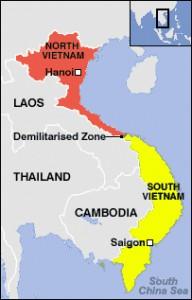 Северная Корея годы Вьетнамской войны карта