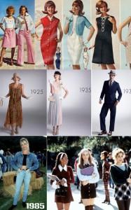 разная одежда 20 века