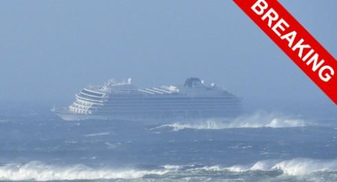 Крушение лайнера в Норвегии видео
